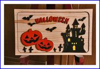 ハロウィン お城にかぼちゃ