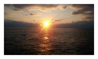 釣り場の夕日