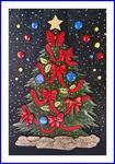 浮き絵クリスマスツリー