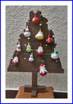 ミニ瓢箪のクリスマスツリー