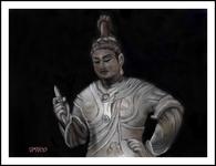 京都東寺の(国宝)帝釈天半跏像(PC絵画)