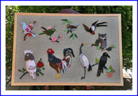 縮緬で作る鳥たち