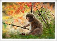 子猿(PC絵画)
