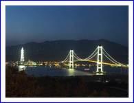 白鳥大橋夜景(祝津展望台より)