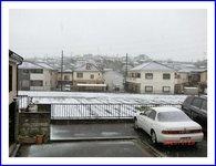 天気予報当たって雪になりました