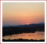 英虞湾に沈む夕日�A