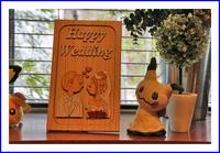 浮き絵Happy  Wedding