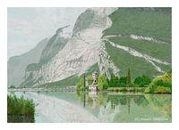 湖畔の館(PC絵画)