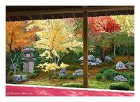 秋の京都(PC絵画)