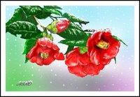 雪椿(PC絵画)