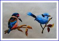 カワセミと小鳥