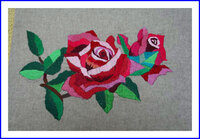 刺繍 薔薇