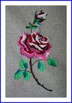 薔薇の花刺繍