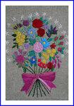 刺繍 花束