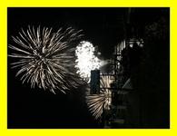 支笏湖の花火