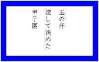 俳句「甲子園」