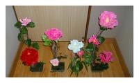 100均の花で鉢植えを創作